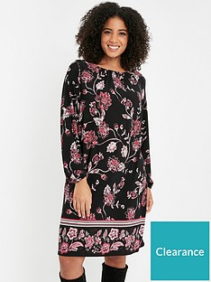 evans-floral-border-shift-dress-multi