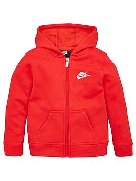 nike-sportswear-younger-child-club-full-zip-hoodie-red