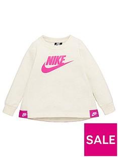 nike-sportswear-younger-girls-futura-crew-neck-sweat-cream