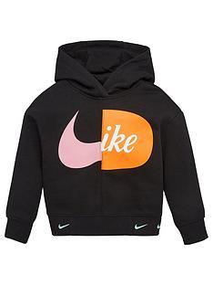 nike-younger-girls-split-logo-overhead-hoodie-black