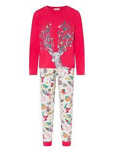 monsoon-girls-raven-christmas-jersey-pyjama-set-red