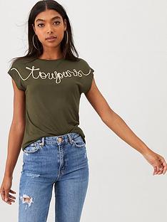 river-island-river-island-toujour-embroidered-t-shirt--khaki