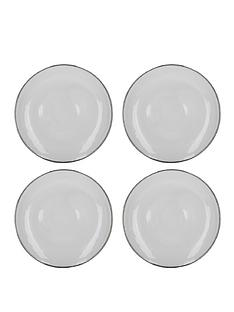 kitchencraft-silver-rim-charger-plates-ndash-set-of-4