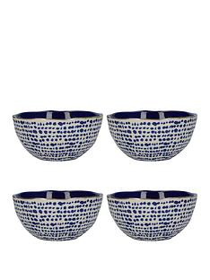 kitchencraft-mikasa-azores-speckle-cereal-bowls-ndash-set-of-4
