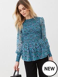 v-by-very-long-sleeve-printed-shirred-yolk-blouse-ditsy-print