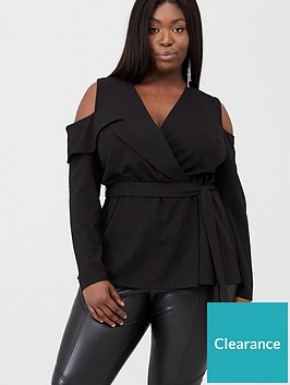 v-by-very-curve-cold-shoulder-top-black