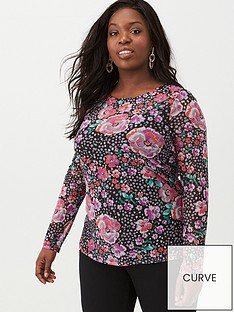 v-by-very-curve-long-sleeve-mesh-top-floral