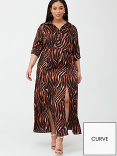 ax-paris-curve-zebra-printed-maxi-shirt-dress-print