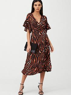 ax-paris-tiger-printed-midi-dress-multi