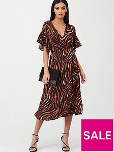 ax-paris-tiger-printed-midi-dress-multi