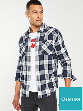 levis-western-checked-shirt-navywhite