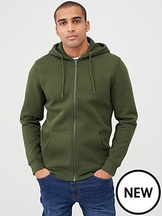 v-by-very-essentials-zip-through-hoodie-green