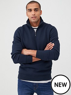 v-by-very-quarter-zip-funnel-neck-navy