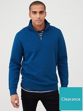 very-man-quarter-zip-funnel-neck-deep-blue