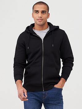 very-man-zip-through-hoodie-black