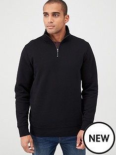 v-by-very-quarter-zip-funnel-neck-black