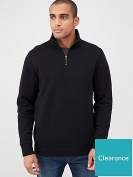 very-man-quarter-zip-funnel-neck-black