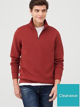 very-man-quarter-zip-funnel-neck-hoodie-burgundy