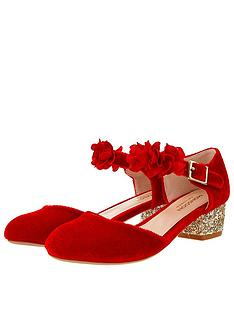 monsoon-girls-maia-corsage-strap-velvet-shoes-red