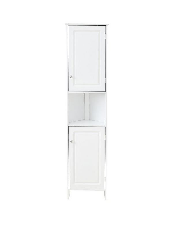 Lloyd Pascal Devonshire Tall Corner Bathroom Cabinet White Littlewoodsireland Ie
