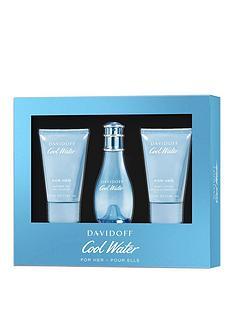 davidoff-davidoff-cool-water-woman-30ml-eau-de-toilette-50ml-shower-gel-50ml-body-lotion-gift-set