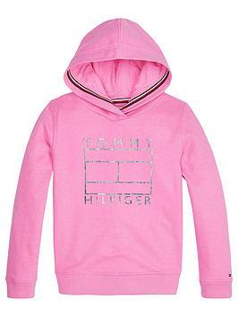 tommy-hilfiger-girls-foil-flag-hoodie-bright-pink