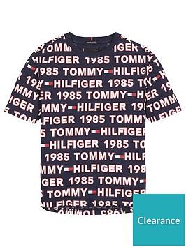 tommy-hilfiger-boys-short-sleeve-all-over-logo-t-shirt-blue