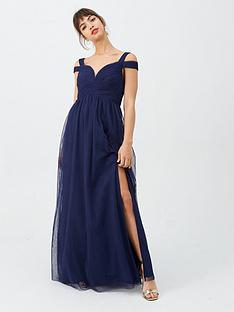 little-mistress-bridesmaid-cold-shoulder-maxi-dress-navy