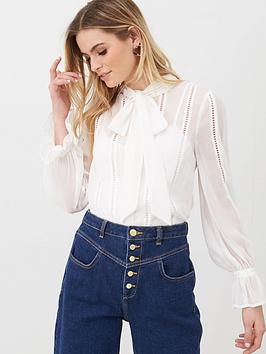 v-by-very-ladder-trim-pussybow-blouse-ivory