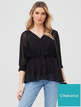 v-by-very-georgette-peplum-blouse-black