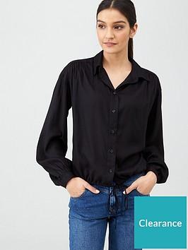 v-by-very-button-through-shirt-black