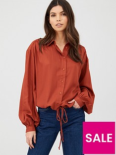 v-by-very-button-through-shirt-rust