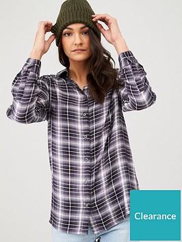 v-by-very-essentialnbspchecked-shirt-blue-grey