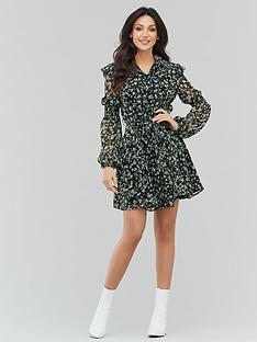 michelle-keegan-printed-ruffle-tea-dress-ditsy-floral
