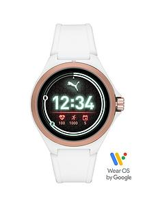 puma-gen-5-full-display-rose-gold-case-dial-white-silicone-strap-smart-watch