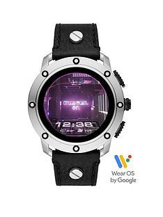 diesel-diesel-gen-5-full-display-stainless-steel-case-dial-black-leather-studded-strap-smart-watch