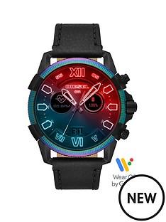 diesel-diesel-gen-5-full-display-oil-slick-case-dial-black-silicone-strap-smart-watch