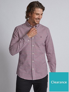 burton-menswear-london-long-sleeve-oxford-gingham-shirt