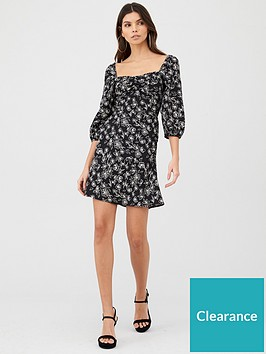 v-by-very-puff-sleeve-tea-dress-print