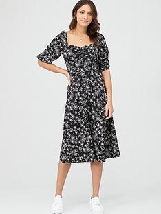 v-by-very-moss-crepe-midi-dress-printed
