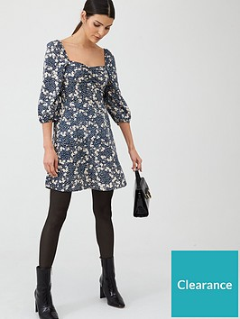 v-by-very-floral-puff-sleeve-tea-dress