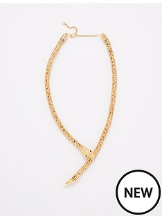 v-by-very-snake-necklace