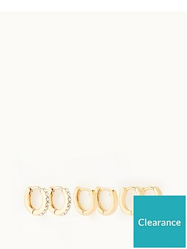 michelle-keegan-3-pack-huggie-hoop-earrings-gold
