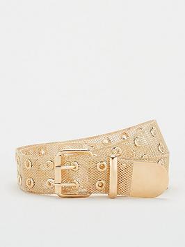 v-by-very-eyelet-metal-belt-gold