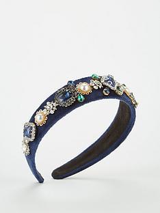 v-by-very-embellished-headband-navy