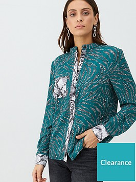 v-by-very-mix-print-shirt-green