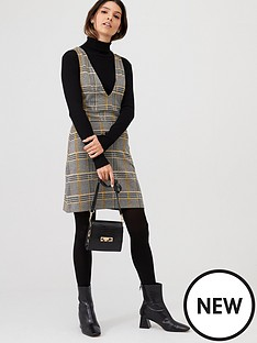 v-by-very-check-v-neck-pinafore-multi