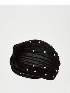 v-by-very-pearl-embellished-lurex-turban-black
