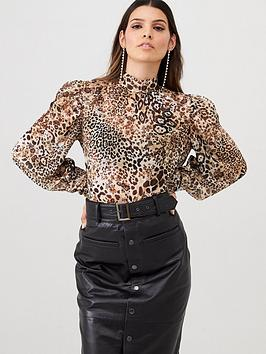 v-by-very-leopard-mesh-high-volume-sleeve-top-leopard