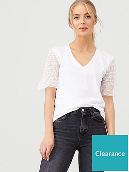 v-by-very-mesh-frill-sleeve-top-white